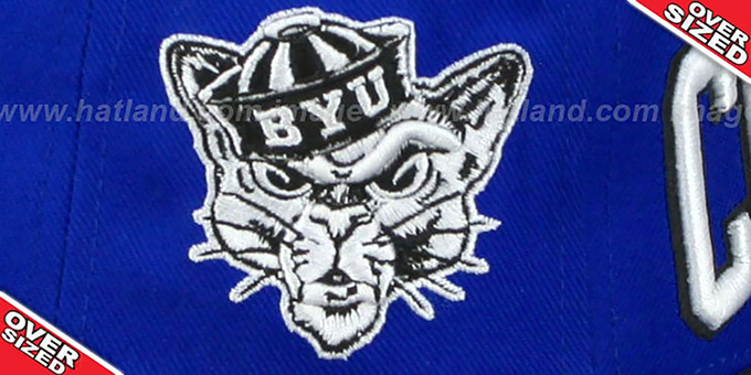BYU '2T SUPER-ARCH OVER-SIZED SNAPBACK' Blue-Black Hat by Zephyr