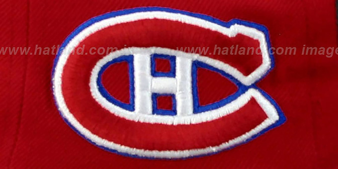 Canadiens '2T SUPER-ARCH SNAPBACK' Red-Royal Hat by Zephyr