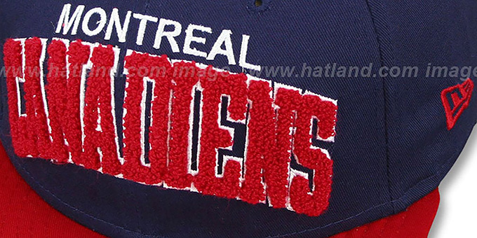Canadiens 'CHENILLE-ARCH SNAPBACK' Navy-Red Hat by New Era