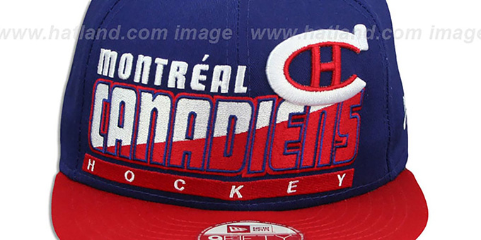 Canadiens 'SLICE-N-DICE SNAPBACK' Royal-Red Hat by New Era
