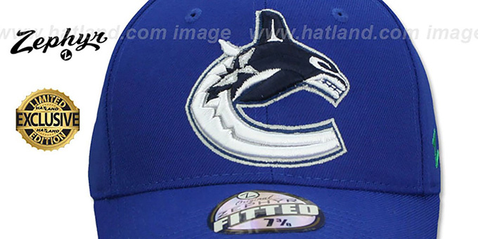 Canucks  'SHOOTOUT' Royal Fitted Hat by Zephyr