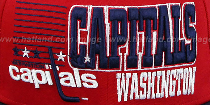 Capitals '2T BORDERLINE SNAPBACK' Red-Navy Hat by New Era