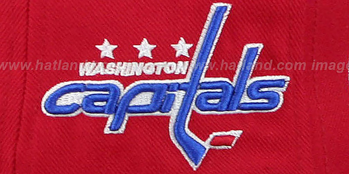 Capitals '2T HEADLINER SNAPBACK' Red-Royal Hat by Zephyr