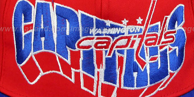 Capitals '2T TEAM-FLASHBACK SNAPBACK' Red-Royal Hat by Zephyr