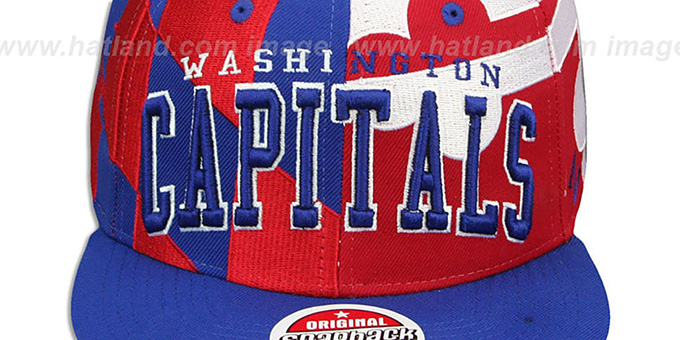 Capitals 'MARYLAND SUPER-FLAG SNAPBACK' Hat by Zephyr
