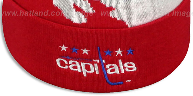 Capitals 'PAINTBRUSH BEANIE' by Mitchell and Ness