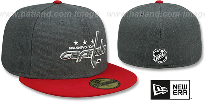 ... Capitals  SHADER MELT-2  Grey-Red Fitted Hat by New Era ... 159fec9d7305