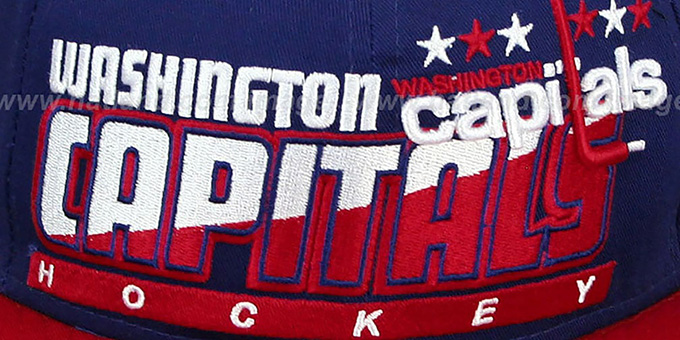 Capitals 'SLICE-N-DICE SNAPBACK' Navy-Red Hat by New Era