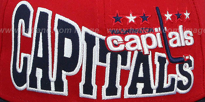 Capitals 'STOKED SNAPBACK' Red-Navy Hat by New Era