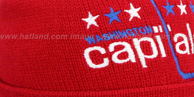 Capitals 'XL-LOGO BEANIE' Red by Mitchell and Ness