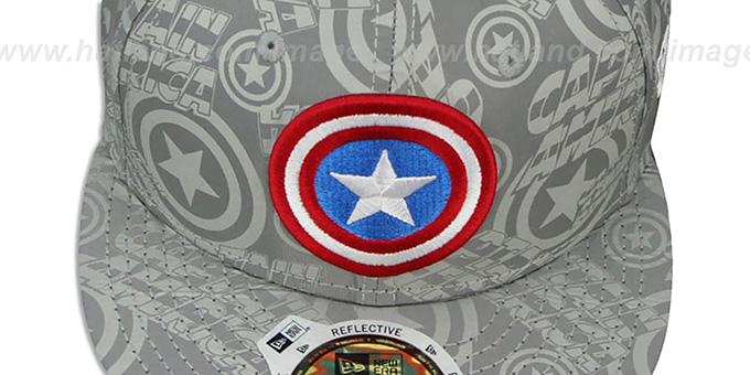Captain America 'COMIC REFLECT' Fitted Hat by New Era