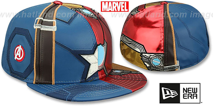 3b23010219406 ... Captain America VS Ironman  CHARACTER ARMOR  Fitted Hat by New Era ...