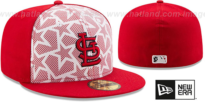 Cardinals '2016 JULY 4TH STARS N STRIPES' Fitted Hat by New Era