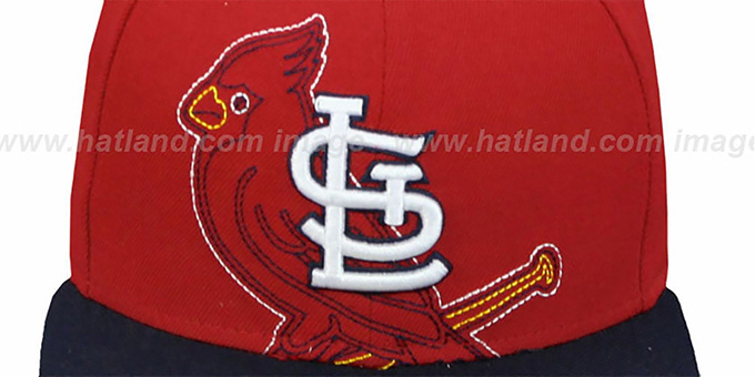 Cardinals 'NEW MIXIN' Red-Navy Fitted Hat by New Era