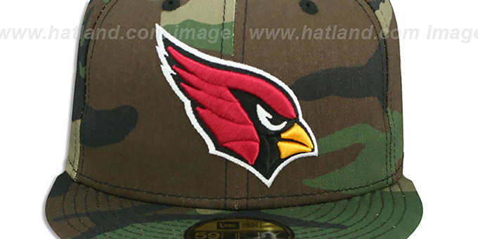 Cardinals 'NFL TEAM-BASIC' Army Camo Fitted Hat by New Era