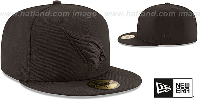 Cardinals 'NFL TEAM-BASIC BLACKOUT' Fitted Hat by New Era