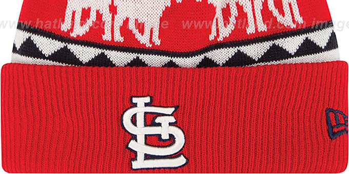 Cardinals 'THE-MOOSER' Knit Beanie Hat by New Era