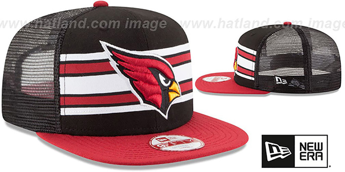 Cardinals 'THROWBACK-STRIPE SNAPBACK' Black-Burgundy Hat by New Era