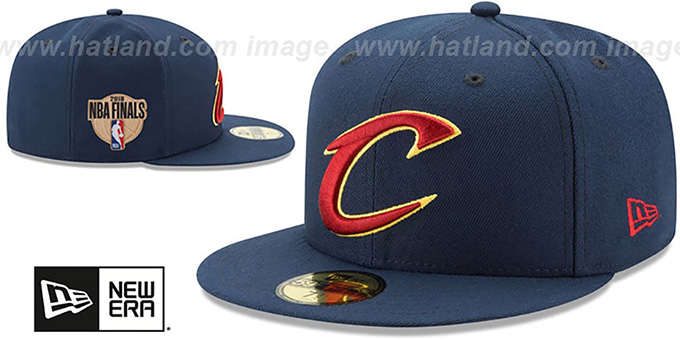 Cavaliers '2018 FINALS' Navy Fitted Hat by New Era