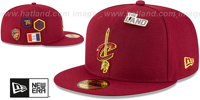 Cavaliers '2018 NBA DRAFT' Burgundy Fitted Hat by New Era