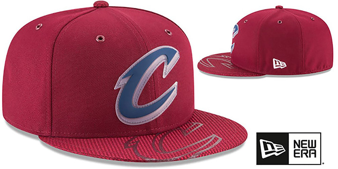 Cavaliers '2018 NBA ONCOURT ALL-STAR' Burgundy Fitted Hat by New Era