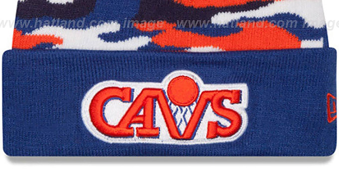 Cavaliers 'CAMO CAPTIVATE' Knit Beanie Hat by New Era