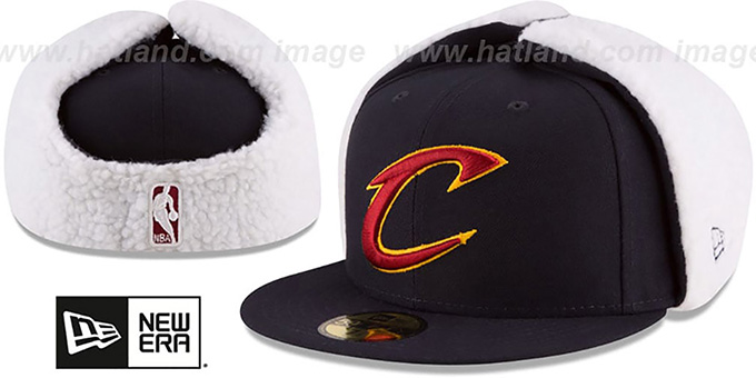 Cavaliers 'FLURRY-FIT DOGEAR' Navy Fitted Hat by New Era