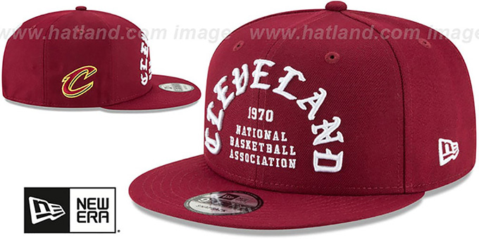 Cavaliers 'GOTHIC-ARCH SNAPBACK' Burgundy Hat by New Era