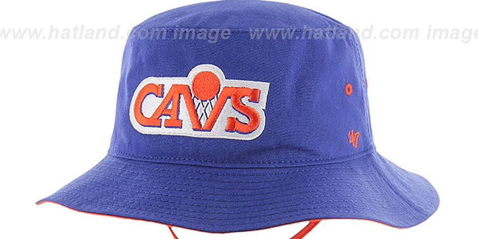Cavaliers 'KIRBY BUCKET' Royal Hat by Twins 47 Brand
