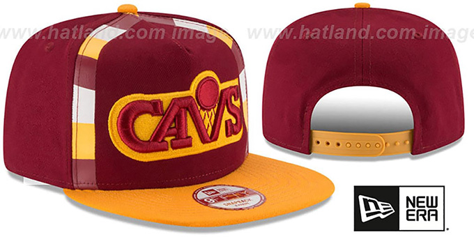 Cavaliers 'NBA JERSEY MURAL SNAPBACK' Hat by New Era