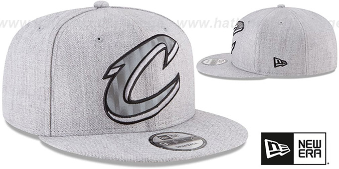 Cavaliers 'SILKED-XL SNAPBACK' Heather Light Grey Hat by New Era