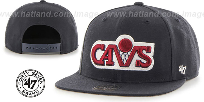 Cavaliers 'SURE-SHOT SNAPBACK' Navy Hat by Twins 47 Brand