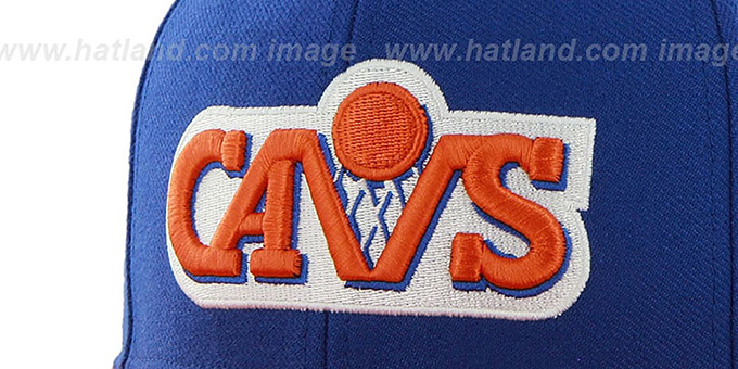 Cavaliers 'SURE-SHOT SNAPBACK' Royal-Orange Hat by Twins 47 Brand
