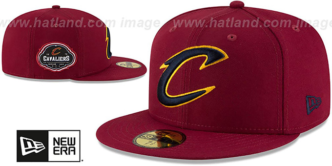 Cavaliers 'TEAM-SUPERB' Burgundy Fitted Hat by New Era