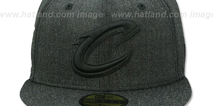Cavaliers 'TOTAL TONE' Heather Black Fitted Hat by New Era
