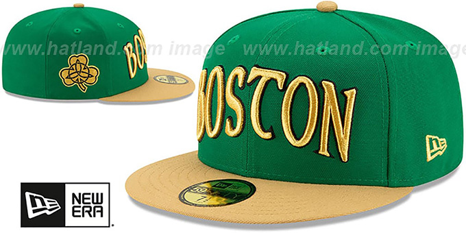 Celtics 19-20 'CITY-SERIES' Green-Tan Fitted Hat by New Era