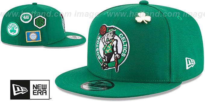 fe2da07a7c6 Boston Celtics 2018 NBA DRAFT SNAPBACK Green Hat by New Era