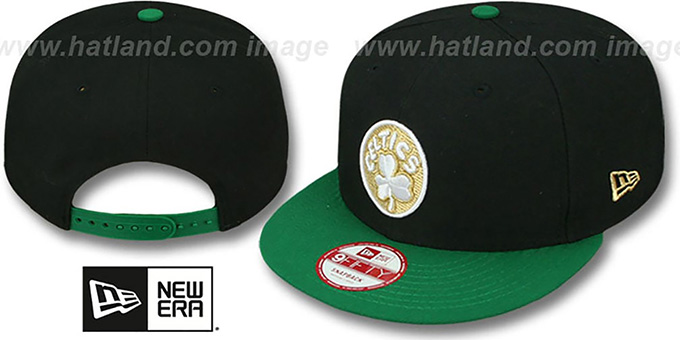 Celtics 'CHAMPS-HASH SNAPBACK' Black-Green Hat by New Era