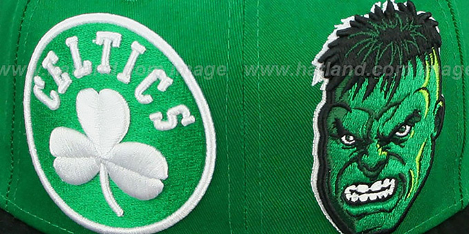 Celtics 'DOUBLE-WHAM THE HULK SNAPBACK' Hat by New Era