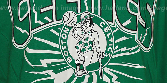 Celtics 'EARTHQUAKE' Green T-Shirt by Mitchell & Ness