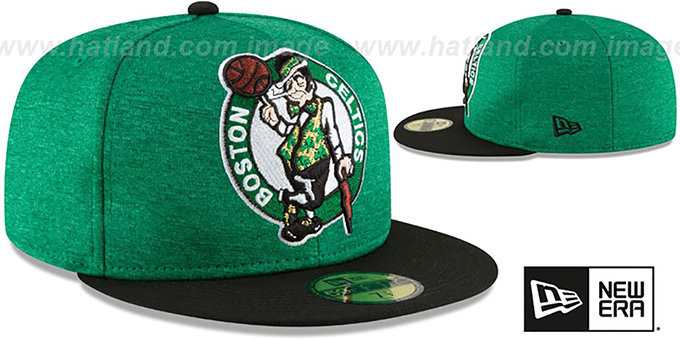 Celtics 'HEATHER-HUGE' Green-Black Fitted Hat by New Era