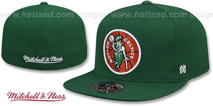Celtics 'HWC SIDE-PATCH' Green Fitted Hat by Mitchell and Ness