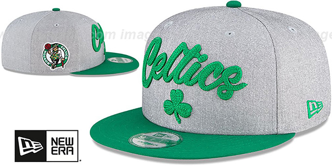 Celtics 'ROPE STITCH DRAFT SNAPBACK' Grey-Green Hat by New Era