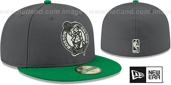 Celtics 'SHADER MELT-2' Grey-Green Fitted Hat by New Era