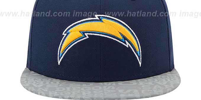 Chargers '2014 NFL DRAFT' Navy Fitted Hat by New Era