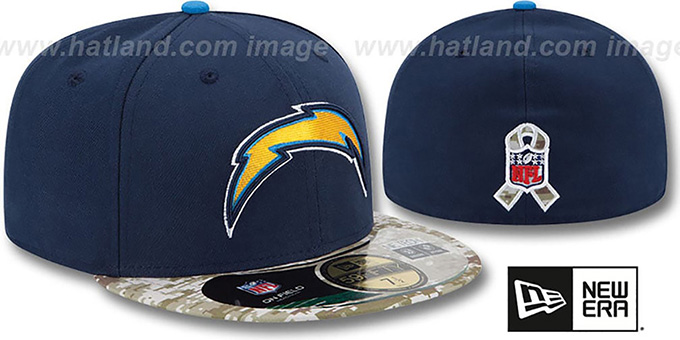 Chargers '2014 SALUTE-TO-SERVICE' Navy-Desert Fitted Hat by New Era