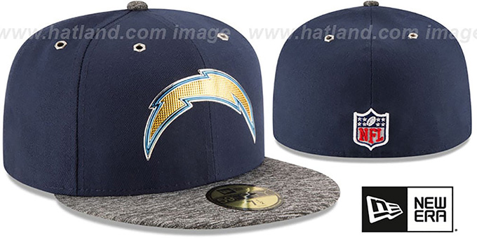 San Diego Chargers 2016 NFL DRAFT Fitted Hat by New Era 3f1b8fa19a9