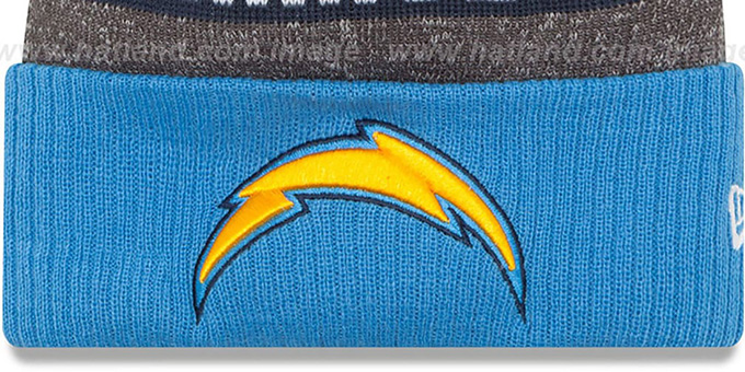Chargers '2016 STADIUM' Blue-Navy-Grey Knit Beanie Hat by New Era