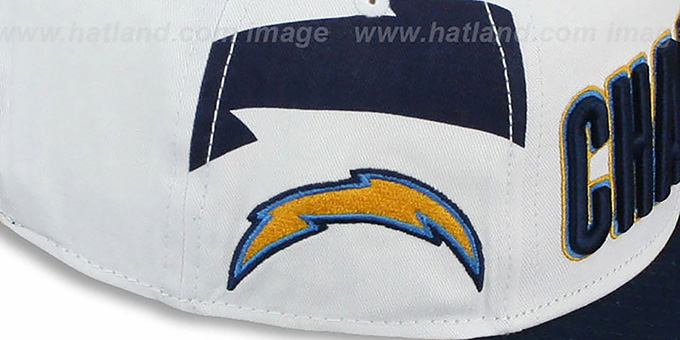 Chargers 'BIGSIDE A-FRAME SNAPBACK' White-Navy Hat by New Era