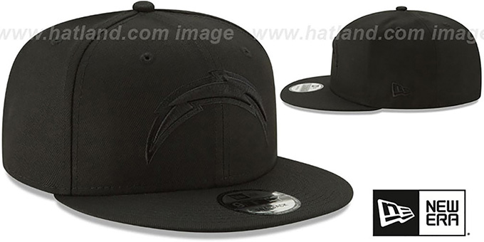 Chargers 'TEAM-BASIC BLACKOUT SNAPBACK' Hat by New Era